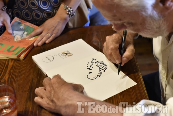 Al lago del Laux la passione del fumettista Sergio Staino
