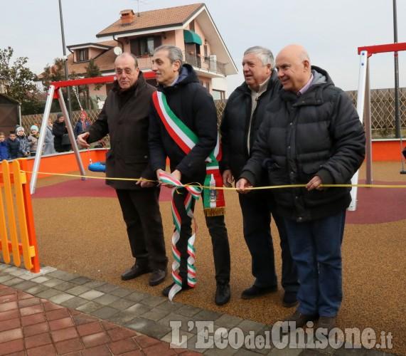Vinovo: inaugurazione del nuovo parco giochi a Garino