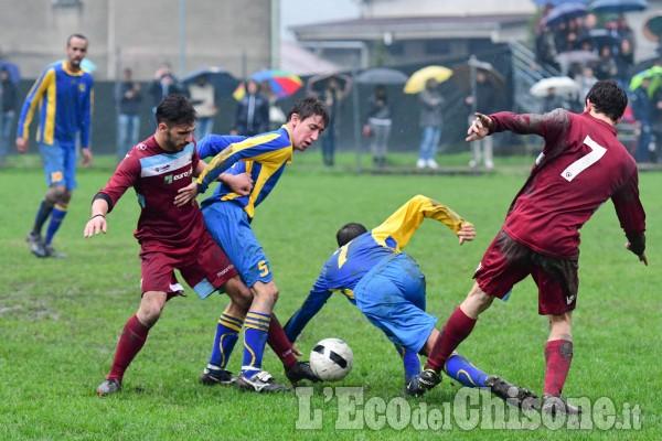 Calcio Prima categoria: pari nel derby a Pinasca