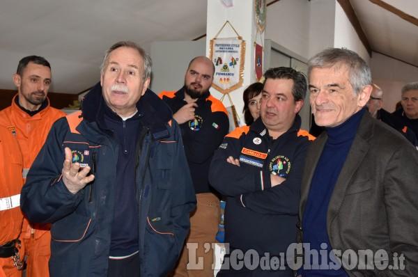 Sergio Chiamparino alla sede Aib di Cumiana