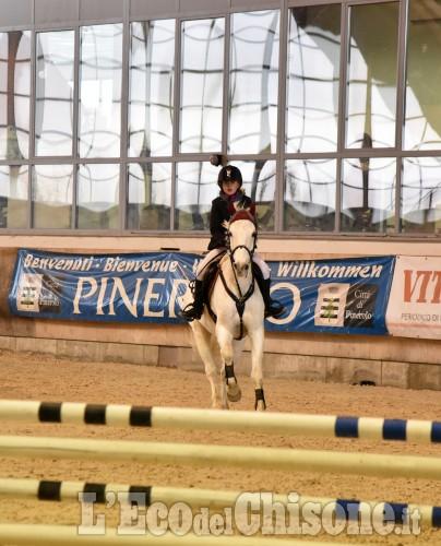 Pinerolo, concorso ippico nel grande maneggio