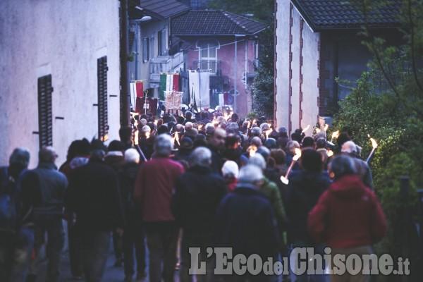 Villar Perosa: fiaccole per la Liberazione