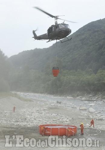 Elicotteri e Canadair per il Vandalino