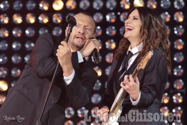Laura Pausini e Biagio Antonacci all'Olimpico di Torino
