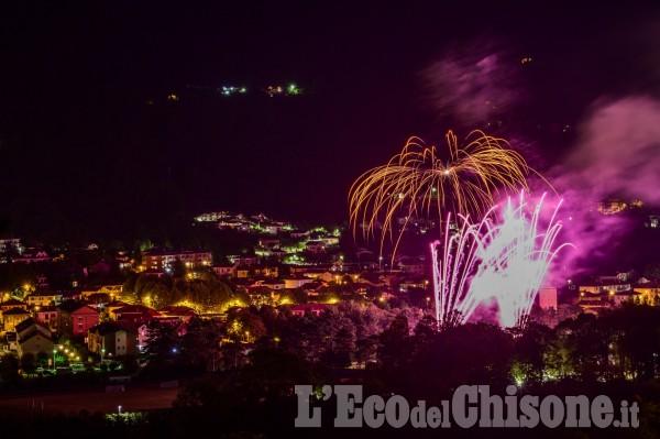 Villar Perosa: la magia dei fuochi d'artificio