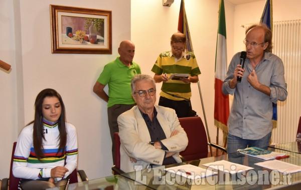 Con l'iridata Gasparrini presentazione di Dalle Mura al Muro a Frossasco