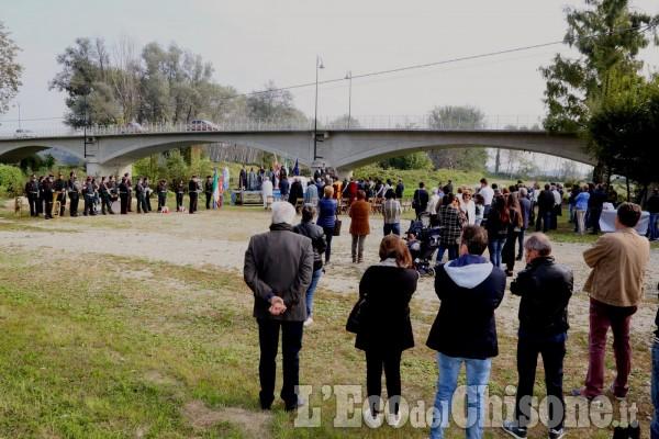 Cardè, inaugurazione targa al ponte