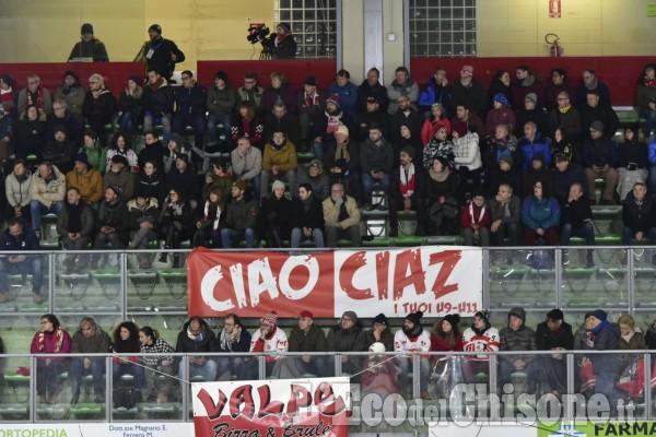 """Hockey ghiaccio, emozionante serata al """"Cotta"""", Valpe in parità a metà match: 1 a 1"""