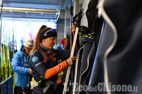 Sci nordico, le immagini dell'intensa mattina di Alpen Cup a Pragelato