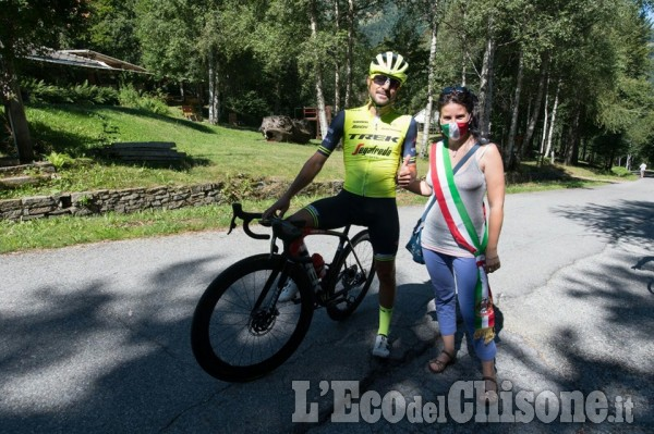 Ciclismo, l'ascesa fino al Parco Montano di Mosca