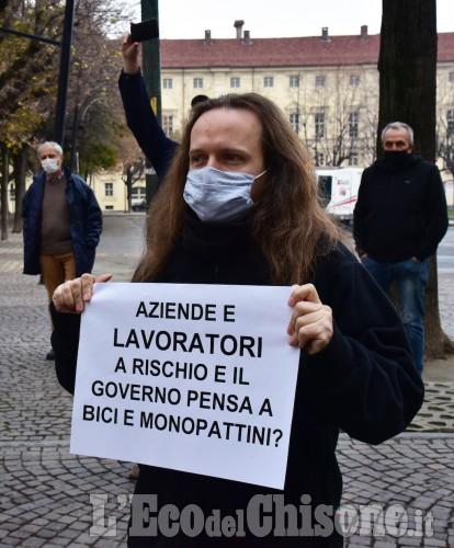 Pinerolo: La protesta dei commercianti