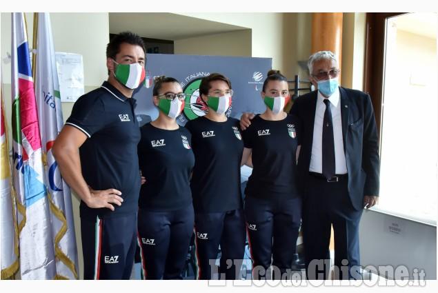 Cantalupa: Conferenza della  Nazionale Arcieri alle Olimpiade di Tokio