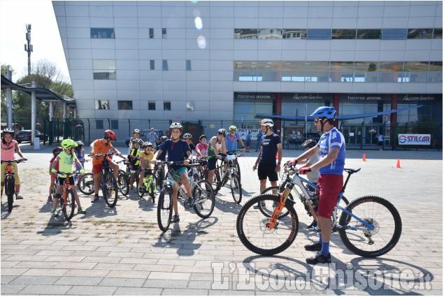 Pinerolo iniziata la scuola di ciclismo per i più piccoli con Jacopo Mosca