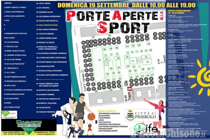 Pinerolo: oggi pomeriggio e domani Porte Aperte allo sport