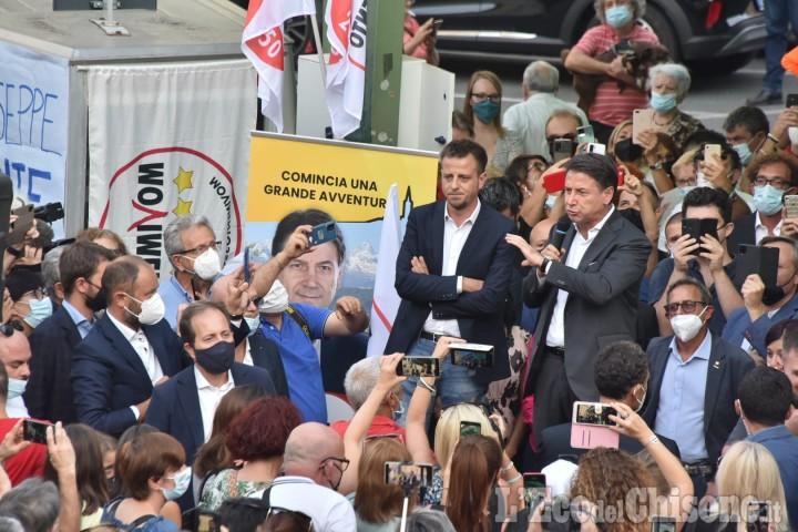 A Pinerolo il leader del Movimento 5 Stelle Giuseppe Conte a sostegno della candidatura di Luca Salvai