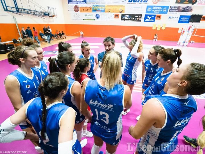 Volley serie A2 femminile, Pinerolo rimonta ma cede al tie break e Marignano vola