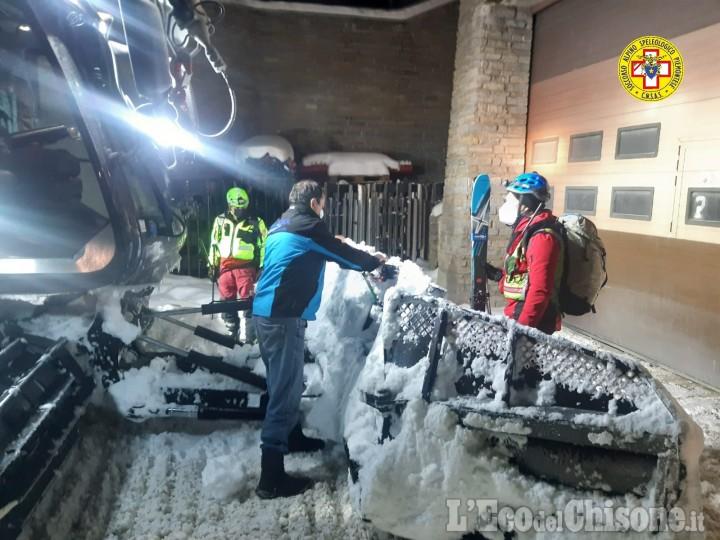 Sestriere: scialpinista si frattura una gamba, l'intervento del Soccorso Alpino