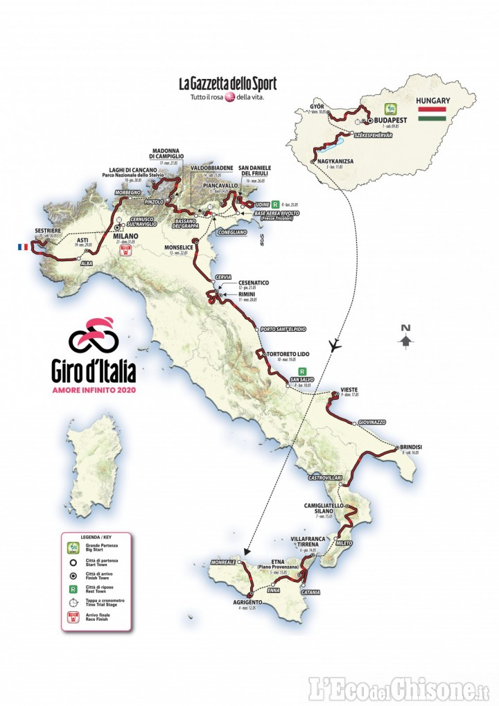 Giro d'Italia 2020, l'arrivo della tappa chiave di sabato 30 maggio sarà a Sestriere