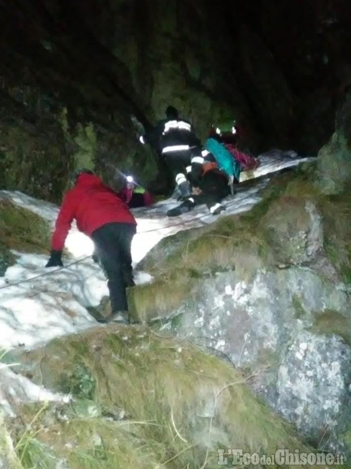 Bobbio Pellice: escursionisti bloccati dal ghiaccio mentre salivano verso il Jervis