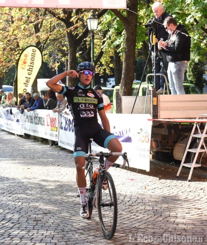 Ciclismo, Allievi a San Maurizio: sul muro scatto vincente del fortissimo emiliano Omati
