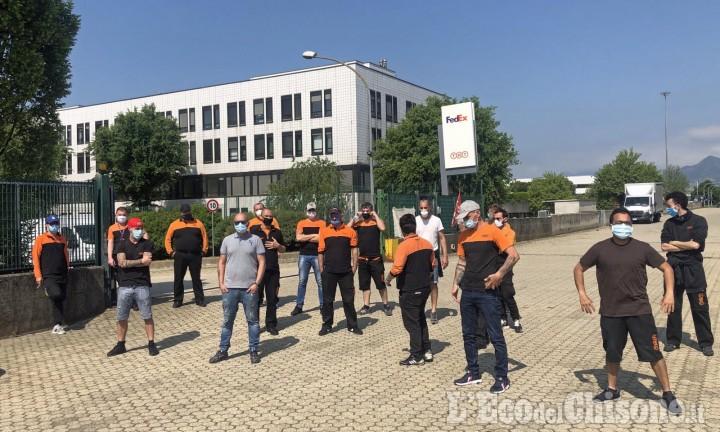Orbassano: al Sito Interporto sciopero ad oltranza per i corrieri di Tnt-FedEx