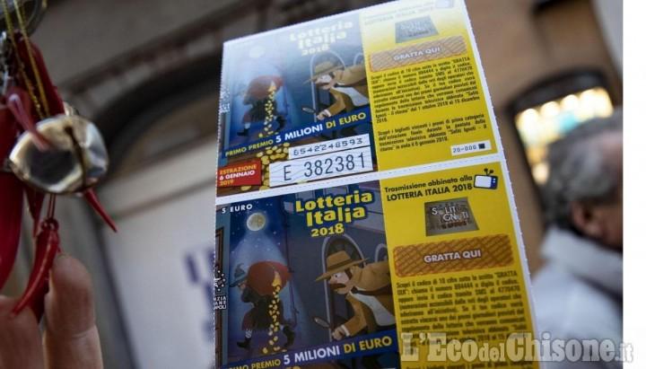 Pinerolo, un tagliando fortunato: vinti 25 mila euro alla Lotteria Italia
