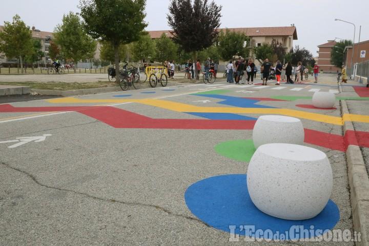 None: inaugurato l'intervento in Via Brignone, fronte scuole
