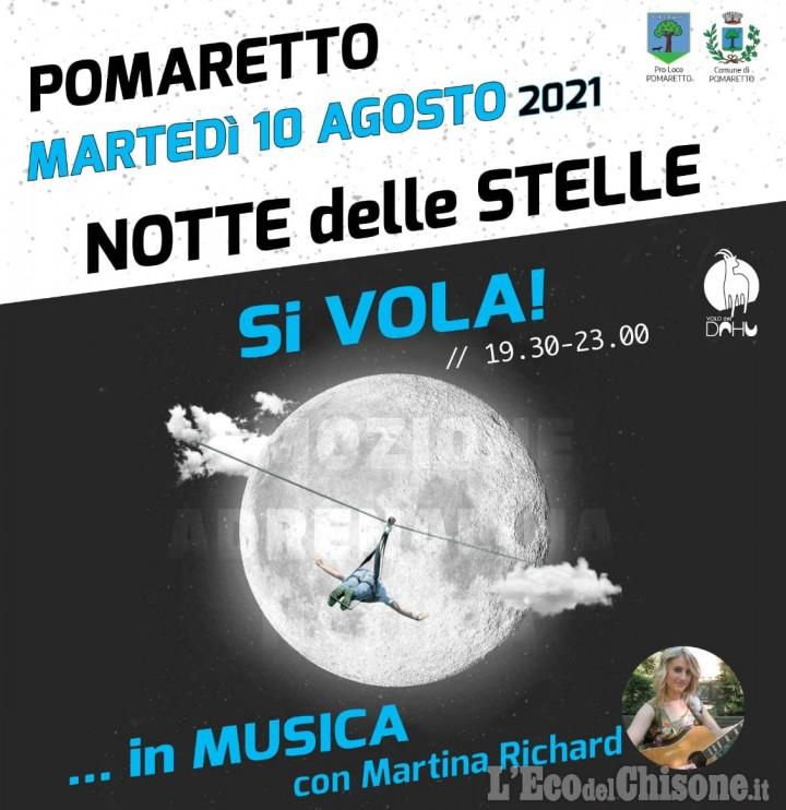 Notte delle stelle a Pomaretto: Volo del dahu, musica e cena