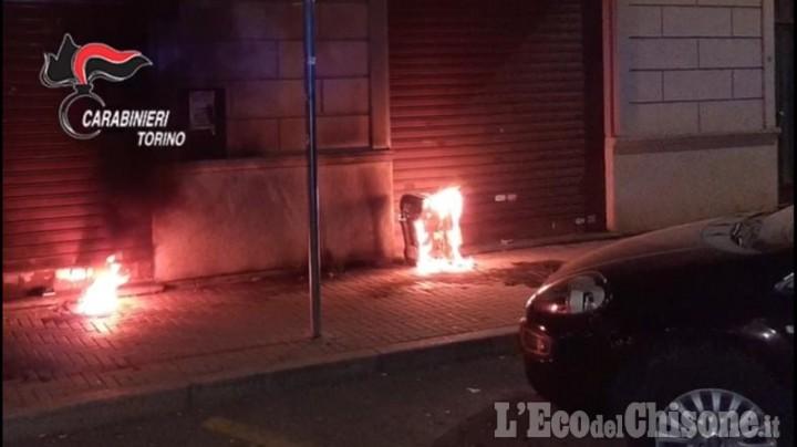 Nichelino: raid incendiario in un negozio per battere la concorrenza, due arrestati
