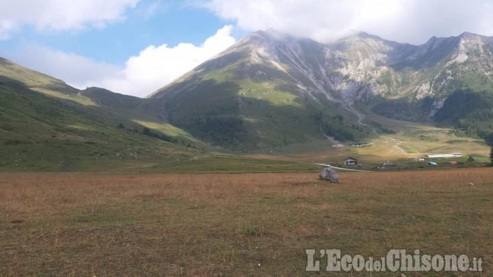 Poligono di Pian dell'Alpe: incontro sul campo tra vertici militari, sindaco di Usseaux e parco Alpi Cozie