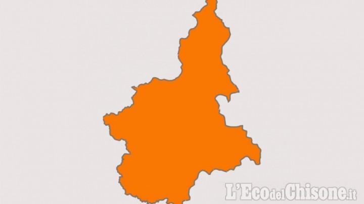 Il Piemonte torna in zona Arancione da martedì