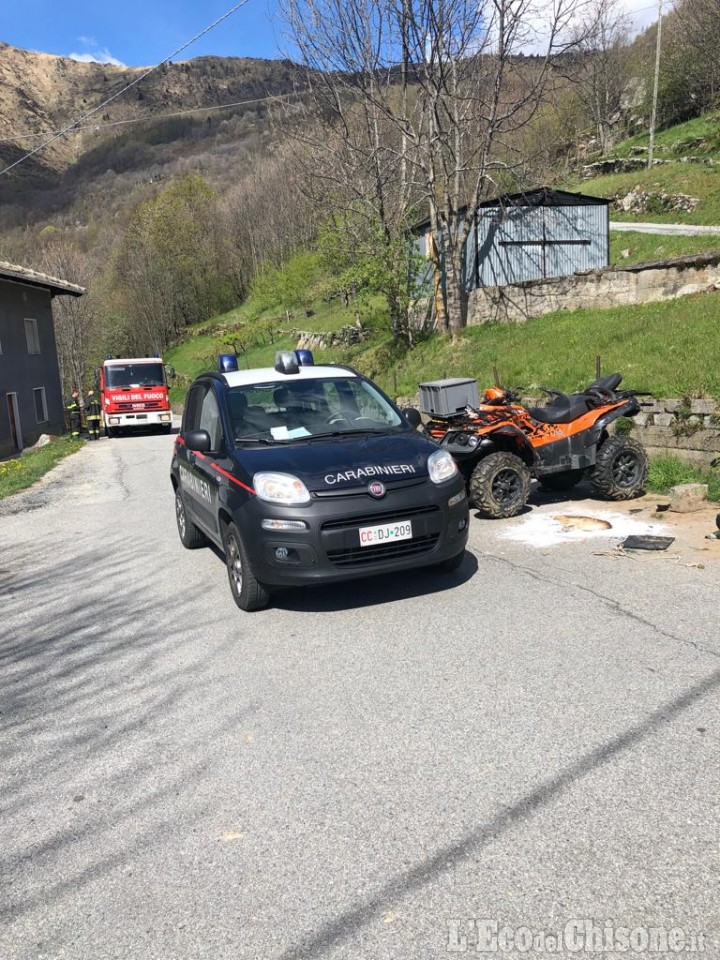 Pramollo: si ribalta con il quad ai Pellenchi, muore 64enne