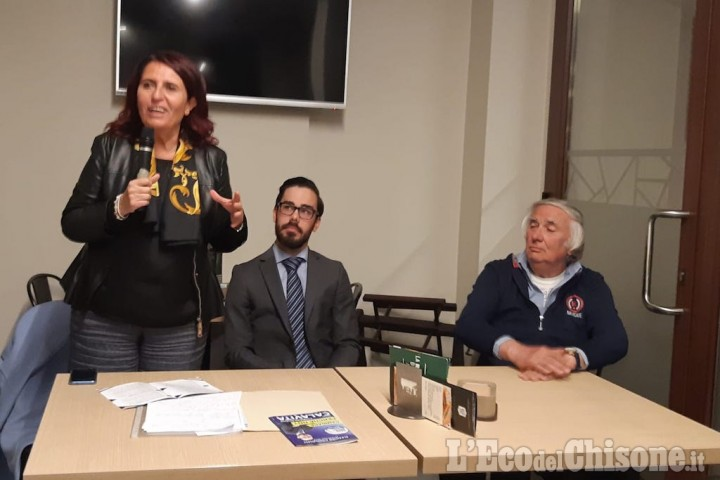 Daniela Ruffino a Pancalieri con il candidato sindaco Oscar Calavita