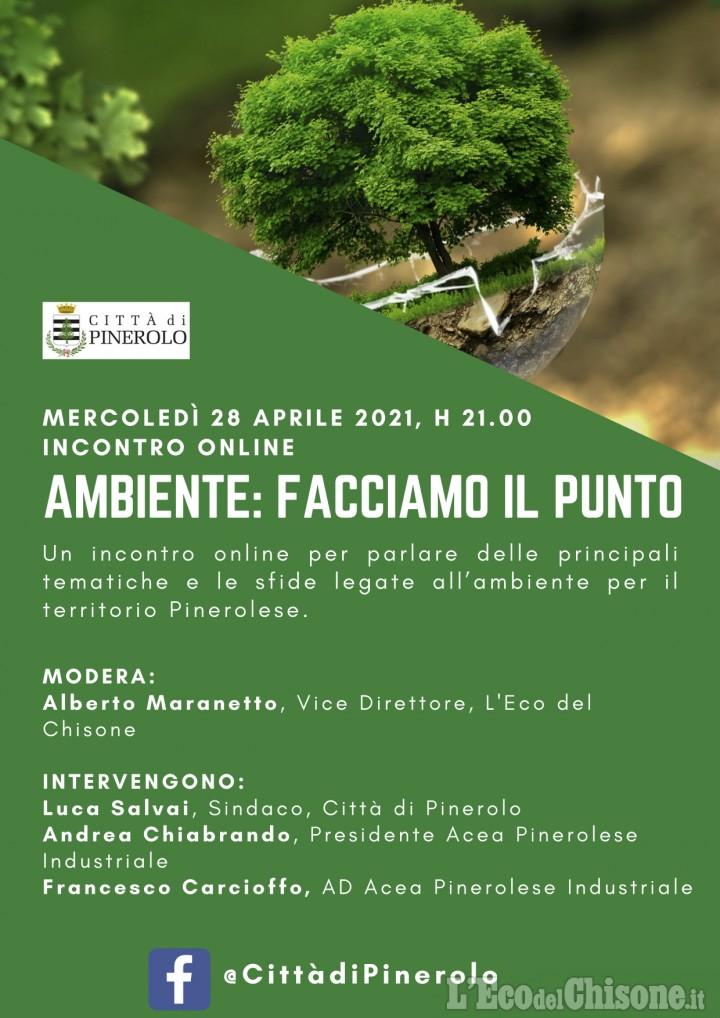 Ambiente e servizi:questa sera dibattito on line con sindaco di Pinerolo e vertici Acea