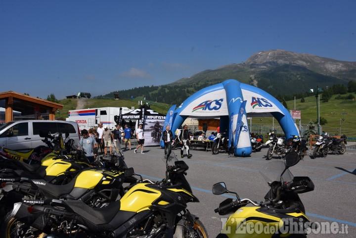 """Sestriere: il mototurismo riparte dai 2000 metri del Colle con """"In Moto Oltre le nuvole"""""""