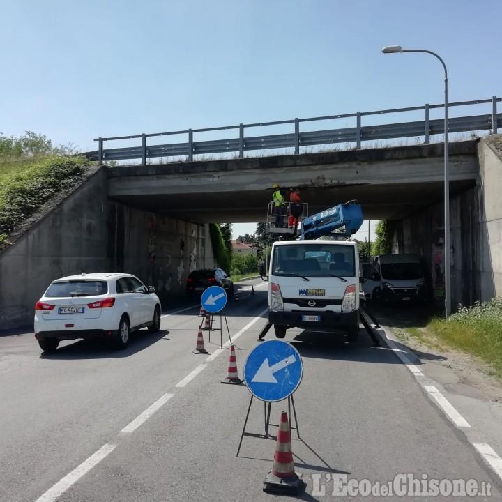 Pinerolo: lavori al sovrappasso su via Saluzzo (Sp. 23 del Sestriere)