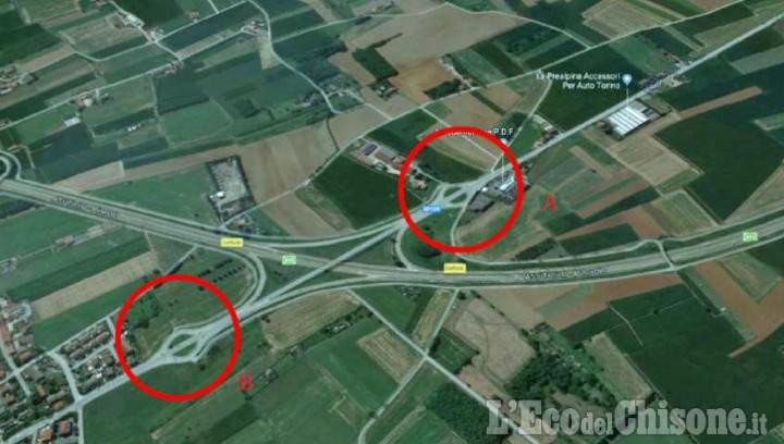 Volvera: al via fra pochi giorni i lavori delle nuove rotonde all'uscita autostradale di Gerbole