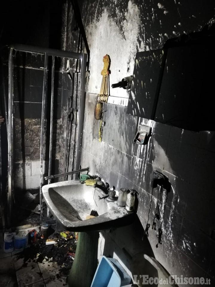 Bibiana: fiamme nel bagno di casa, proprietario in ospedale per un principio di intossicazione
