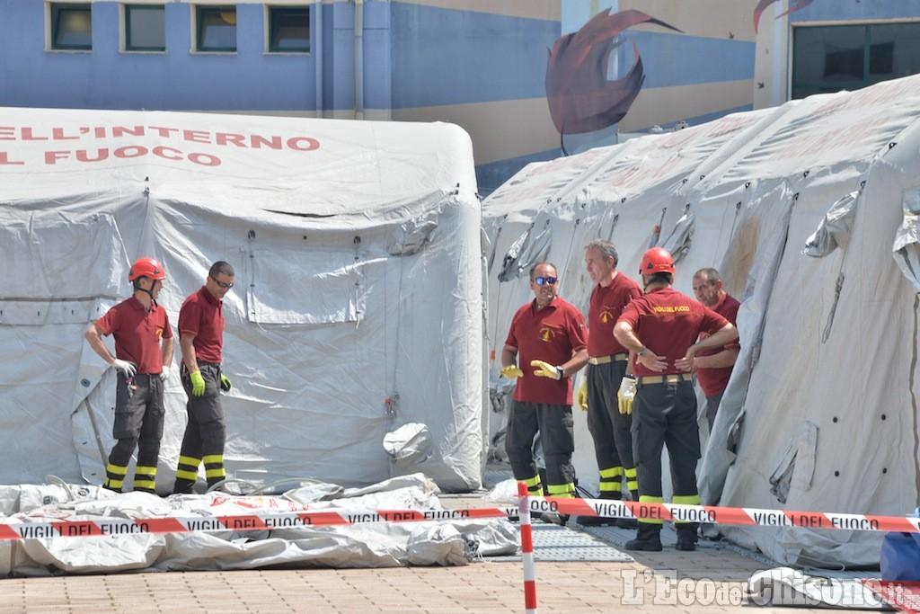 Terremoto a Pinerolo, è esercitazione