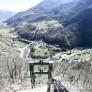 Foto Gallery: Volo del Dahu: primo cavo sopra Pomaretto con l'elicottero