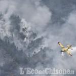 Foto Gallery: Elicotteri e Canadair per il Vandalino