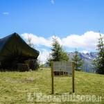 Foto Gallery: Usseaux: inaugurata a Pian dell'Alpe la panchina gigante