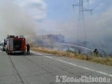 Volvera, fiamme nelle campagne vicino all'uscita autostradale di ... - L'Eco del Chisone