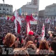 Manifestazione No Tav a Torino: piazza Castello gremita
