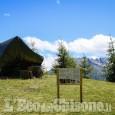 Usseaux: inaugurata a Pian dell'Alpe la panchina gigante