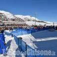 Sci alpino al Colle cresce l'attesa per la seconda manche con Brignone che fa sognare