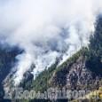 Incendio: spento in Val Germanasca, ultimi focolai sul versante di Roure, in Val Chisone