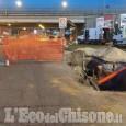 Beinasco: guasto a Fornaci durante i lavori sulla linea del gas, traffico nel caos