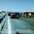 Pinerolo: scontro tra auto sulla circonvallazione, due feriti e lunghe code