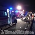 Orbassano: si schianta con l'auto sulla tangenziale sud, ferito 35enne